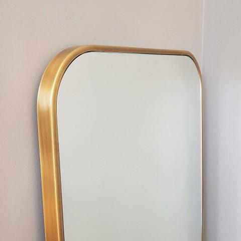 rounded corners gold mirror - monteleone